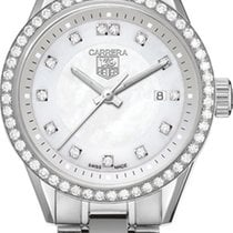 TAG Heuer Ladies  Carrera WV1413 Steel MOP Diamond 28MM