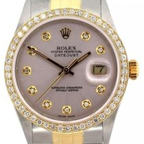 Rolex Datejust Men's 36mm Pink Dial Stainless Steel And...
