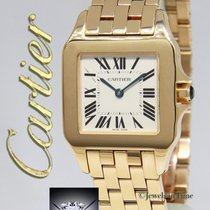 Cartier Santos Demoiselle 18k Yellow Gold Ladies Quartz Watch...