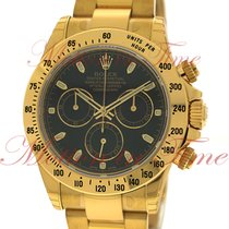 Rolex Cosmograph Daytona, Black Dial - Yellow Gold on Bracelet