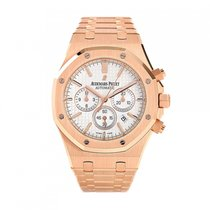 Audemars Piguet Royal Oak Chrono Rose Gold White Dial