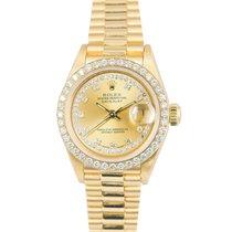 Rolex Datejust President 18k Original Diamond String Dial/Bezel