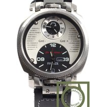 Anonimo Firenze Dual Time silver dial 100% NEW