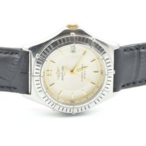Breitling Sirius Damen Uhr Stahl/gold Weiss Schöner Zustand