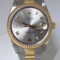 Rolex Oyster Perpetual Date 18k Steel Two Tone Watch 35mm...
