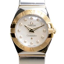 Omega Constellation Gold And Steel White Quartz 123.20.24.60.5...