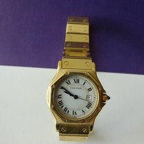 Cartier Santos Lady Octagon 18776 Automatic 750 Gelbgold 122 g...