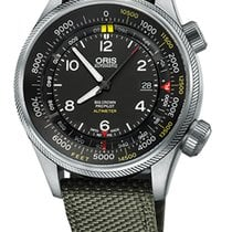 Oris Big Crown ProPilot Altimeter FT, Olive Textile