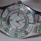 Mauboussin 18K Solid White Gold Emerald / Diamonds