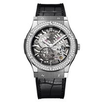 Hublot Classic Fusion 45mm Hand Wind Titanium Mens Watch Ref...