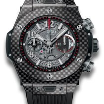 Hublot Big Bang Unico Carbon Fiber Rubber Automatic Chronograp...
