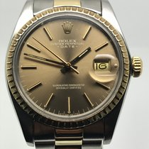 Rolex DATE 34MM AUTO STEEL GOLD VERY RARE BROWN DIAL