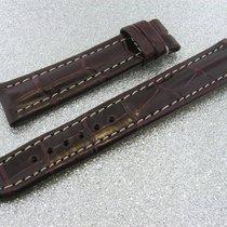 Tradema Crocoarmband 18mm Red Brown Rotbraun Für Dornschliesse...