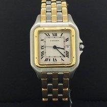 Cartier Panthere 2 tone 18k 3 Row Yellow Gold & Steel...