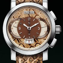 Paul Picot TECHNOGRAPH WILD 44MM Chrono Steel-Beige Python...