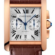 Cartier W5330005 Tank MC Chronograph in Rose Gold - on Leather...