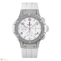 Hublot Big Bang Steel White Rubber Diamonds Ladies Watch