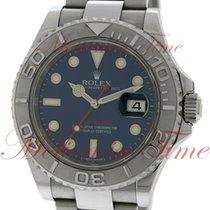 Rolex Yacht-Master, Blue Sunray Dial, Platinum Bezel -...