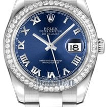 Rolex Datejust 36mm Stainless Steel 116244 Blue Roman Oyster