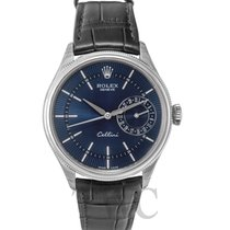 ロレックス (Rolex) Cellini Date Blue 18k white gold/Leather Ø39mm -...