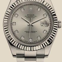 Rolex Datejust II 41mm Steel and White Gold