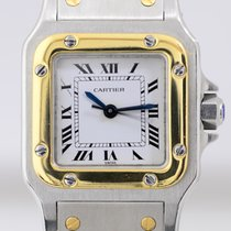 Cartier Santos Automatique Stahl Gold 18K Ladies Klassiker Lady
