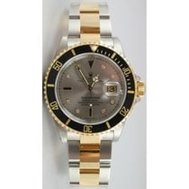 Rolex Submariner 16613 Stainless Steel and 18K Gold with...
