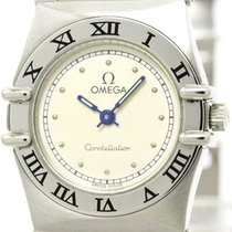 Omega Polished Omega Constellation Steel Quartz Ladies Watch...