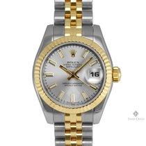 Ρολεξ (Rolex) Datejust Steel and Gold Silver Stick Dial Fluted...