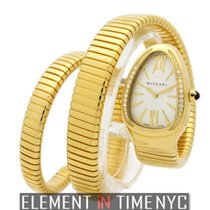 Bulgari Serpenti Ladies Tubogas 18k Yellow Gold Quartz 35mm