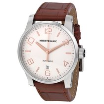 Montblanc Timewalker Automatic Silver Dial Brown Leather Men