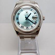 Rolex Day-Date II 41mm President Platinum 218206 iblblrp