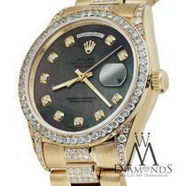 Rolex 18k Yellow Gold Presidential Day Date 36mm Tahitian Mop...