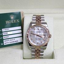 Rolex Datejust Factory MOP Diamond Dial Steel & 18K Rose Gold