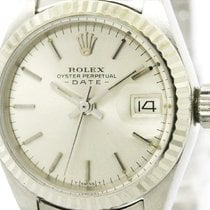 ロレックス (Rolex) Oyster Perpetual Date White Gold Steel Ladies...