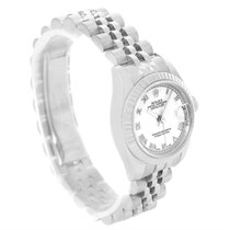 Rolex Datejust Steel 18k White Gold White Dial Ladies Watch...