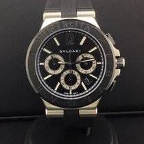 Bulgari Diagono 42mm Steel Chronograph Black Ceramic Date Ref....