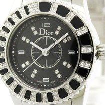 Dior Polished Dior Crystal Diamond Steel Quartz Ladies Watch...