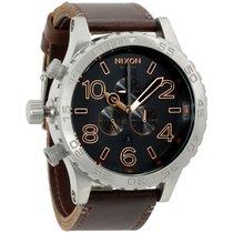 Nixon 51-30 Chrono Grey Dial Leather Strap Men's Watch A124206400