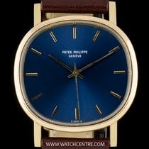 Patek Philippe 18k Y/G RareBlue Dial Cushion Case Auto Ellipse...