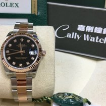 Rolex Cally - 178271 Black Diamond 31mm Datejust Steel Rose...