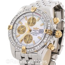 Breitling Chronomat Evolution B13356 Chronograph 18K Steel MOP...