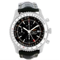 Breitling Navitimer World Chronograph Gmt Steel Watch A24322