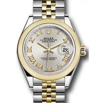 롤렉스 (Rolex) Datejust 28 279163 Silver Roman Domed Bezel Yellow...