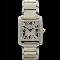 Cartier Tank Francaise -Lady- Ref.: 2384 - Edelstahl/Gelbgold...