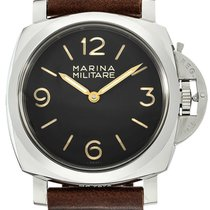 Panerai Luminor 1950 Marina Militare Brown Leather Men Watch...