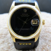 Rolex DATEJUST 16018 18K YG with Original Onyx Dial