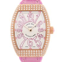 Franck Muller Vanguard 18 K Rose Gold With Diamonds White...
