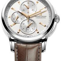 Maurice Lacroix Pontos Chronographe Date, White Dial, Brown...