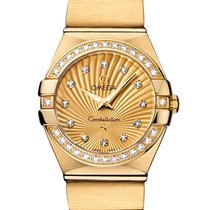 Omega 12355246058001 Constellation Gold Diamonds Ladies